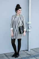 black TK Maxx shoes - silver TK Maxx dress - charcoal gray Zara blazer