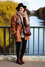 Ruby-red-asos-shoes-black-lierys-hat-burnt-orange-vintage-jacket