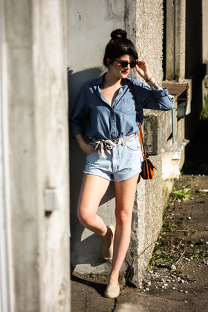 vintage bag - Grandsteps shoes - Kbl sunglasses - Grüne Erde top