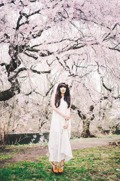 white Mossee dress