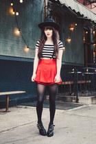 Forever 21 shirt - Forever 21 skirt - TUK flats