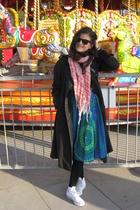 Grandmas skirt - Burberry thrift coat