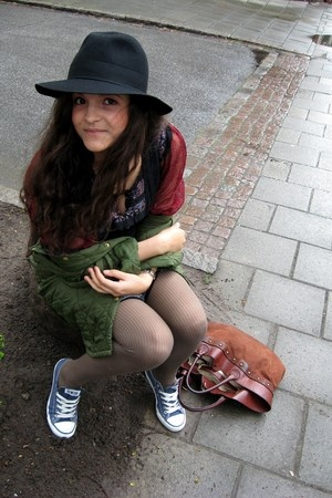 H&M hat - Indiska dress - Barbour jacket - Converse shoes