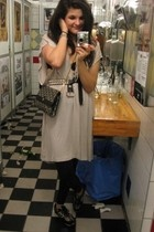 Monki dress - Dior 70s Vintage purse - New Balance shoes