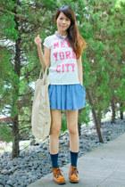 white print Zara shirt - navy dot Zara socks