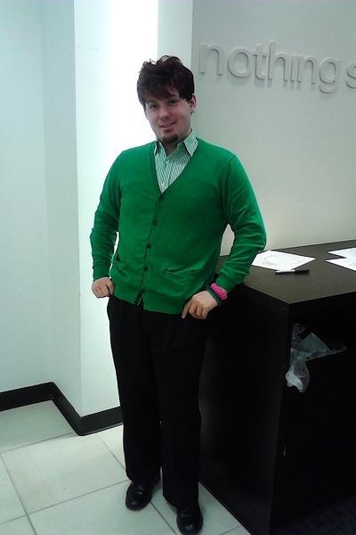 Jcpenny cardigan - Ralph Lauren shirt - Carbon bracelet