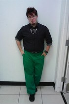 Etc necklace - liz claiborne shirt - Chaps pants