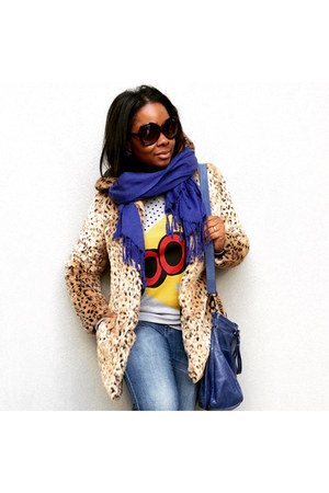 sunglasses Tom Ford glasses - faux fur Forever 21 coat - cotton madewell jeans