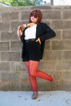 light brown oxfords Forever 21 shoes - black talbots petites blazer