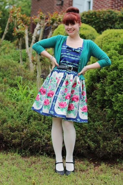 black mary jane croft & barrow heels - navy PepaLoves dress