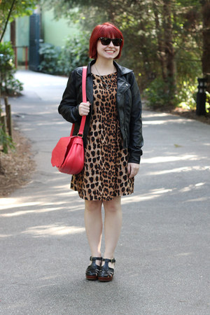 light brown leopard print Boohoo dress