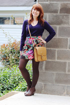 deep purple cashmere ann taylor sweater - brown ankle City Classified boots