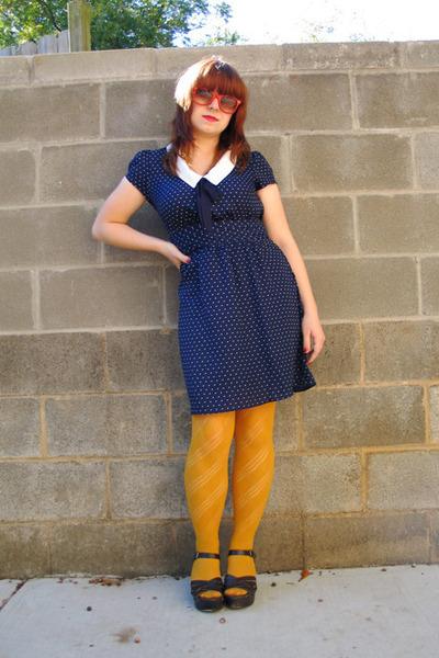 Navy Forever 21 Dresses Mustard Patterned Forever 21