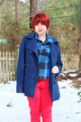 Navy-wool-peacoat-london-fog-coat-red-denim-skinny-levis-jeans