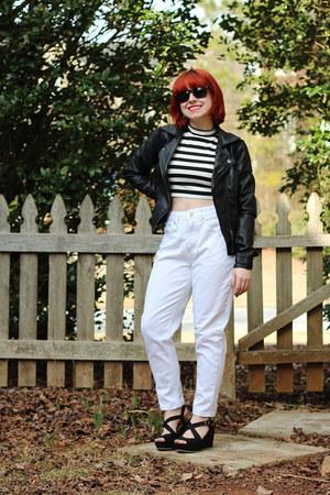 white Boohoo jeans