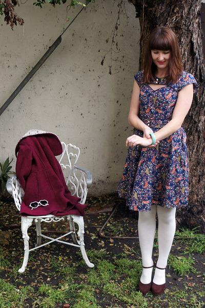 Trollied Dolly dress - miss patina coat - Marni heels