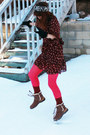 Ugg boots - American Rag dress - Nordstroms tights - free people socks