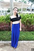 blue maxi jelly bean skirt