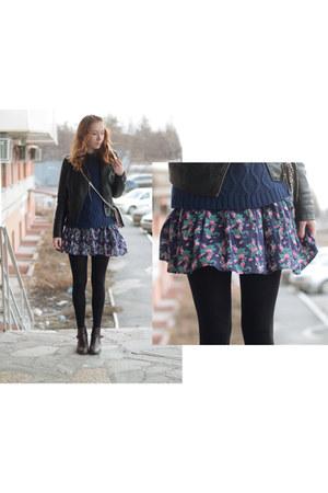 kira plastinina dress - leather Sisley jacket