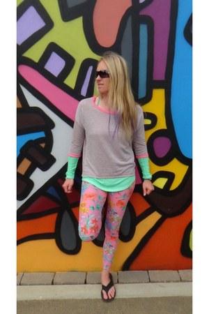 Mudd top - leggings - Love Culture sweatshirt