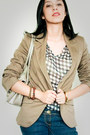 Into-blouse-asos-jeans-beige-zara-blazer-metallic-giani-bernini-bag
