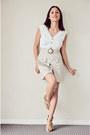 Beige-tfnc-dress-bronze-siren-heels