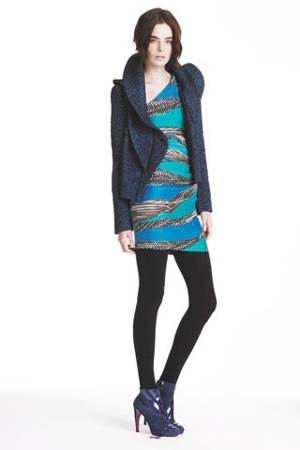 emanuel ungaro dress - emanuel ungaro jacket - emanuel ungaro tights - emanuel u