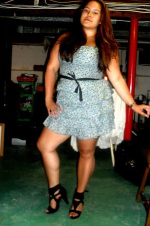 black Forever 21 shoes - blue The Edge dress