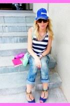 Marc by Marc Jacobs bracelet - bench hat - Rebecca Minkoff bag