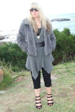 Foschini coat - Foschini sweater - Edgars belt - foschini jumpsuit leggings - ra