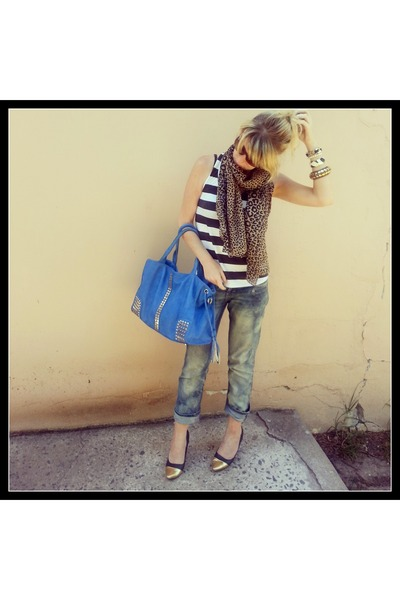 DIY jeans - Lushberry bag - Mr Price t-shirt