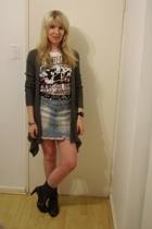Foschini sweater - t-shirt - random store belt - Truworths skirt - socks - Luell