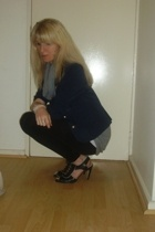 F E blazer - Edgars sweater - Funadangos top - Edagrs leggings - Luella shoes