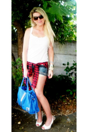 Forever New top - Lushberry bag - DIY shorts - Dolce & Gabbana sunglasses