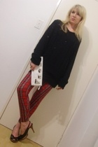 t-shirt - vintage leggings - MRP shoes - random boutique