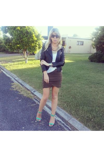 free people skirt - Nameless jacket - Legit heels