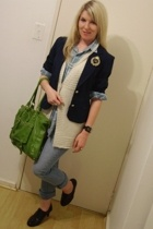 FE blazer - Foschini top - My dads that I took over shirt - news jeans - Luella