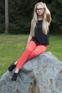 Flea-market-jeans-lindex-top-pirkan-kenkä-heels