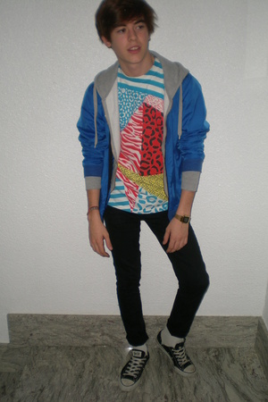 10deep t-shirt - H&M sweater - American Apparel jacket - Cheap Monday jeans - co