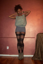 American Apparel tights - American Apparel shorts - hm top