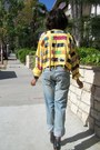 Yellow-cache-jacket-blue-denim-levi-jeans-gray-full-tilt-top
