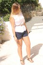 White-ralph-lauren-shorts-light-pink-bcbg-belt-navy-ralph-lauren-top