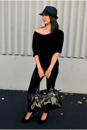 Charles David bag - Forever 21 jeans - H&M shirt - franco sarto heels