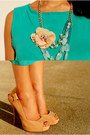 Peach-charlotte-russe-necklace-aquamarine-causeway-mall-dress