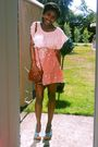 Orange-miss-selfridge-skirt-pink-primark-t-shirt-blue-payless-shoes-vintag