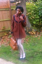 tawny Topshop coat - off white Topshop tights - black Office shoes - tawny Ebay