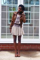 Topshop dress - new look jacket - asos shoes - Topshop earrings - vintage bag