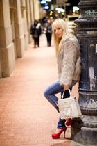 Promod coat - Mischa Barton bag