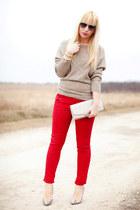 Promod jeans - Promod sweater - H&M bag - Dolce&Gabbana sunglasses