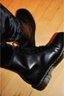 Black-h-m-trend-dress-black-monki-leggings-black-dr-martens-boots-gray-h-m